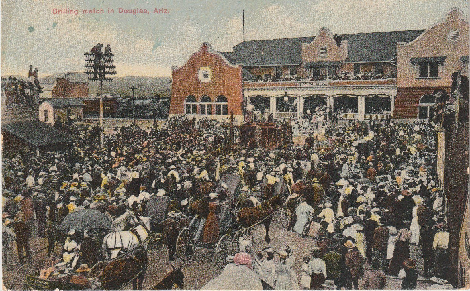 PANCHO VILLA. MINERS AND MISS DUPONT. AND THE YMCA.
